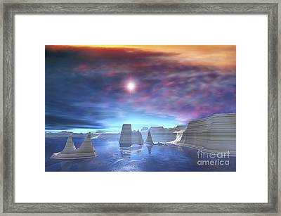 Colorful Sunset On The Waters Of This Framed Print by Corey Ford