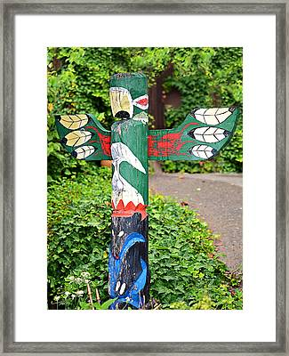 Colorful Totem Framed Print by Susan Leggett