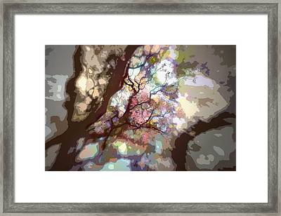 Colorful Tree Framed Print by Diane Dugas