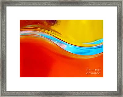 Colorful Wave Framed Print by Carlos Caetano