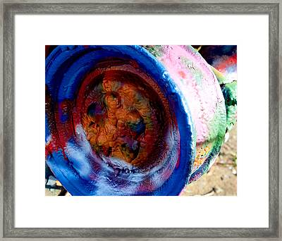 Colorful Wheel Framed Print by Malania Hammer