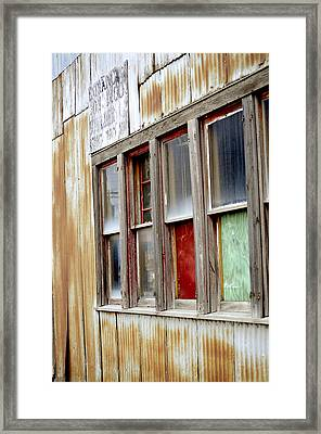 Framed Print featuring the photograph Colorful Windows by Fran Riley