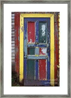 Colorful Wooden Door Framed Print by Will & Deni McIntyre
