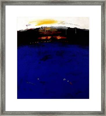 Colors And Water Framed Print by Jorgen Rosengaard