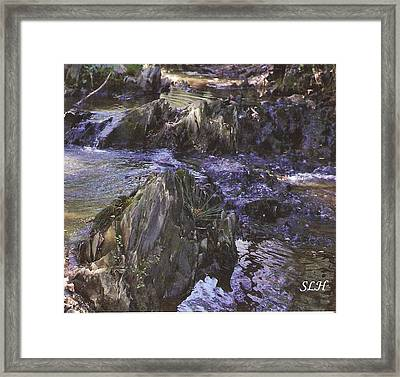 Colors In The Stream Framed Print