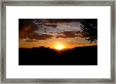 Colors Of A Setting Sun Framed Print by Aaron Burrows
