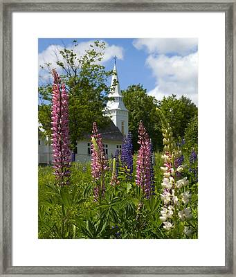 Colors Of Church Framed Print by Jim McDonald