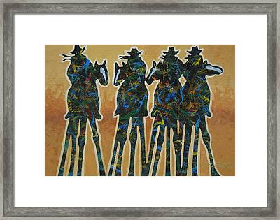 Colors Of Four Framed Print by Lance Headlee