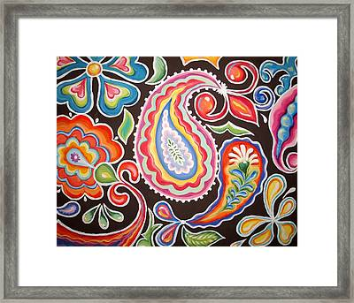 Colors Of Happiness Framed Print by Sandra Lett