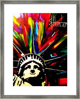 Colors Of Liberty Framed Print by Jeff Hunter