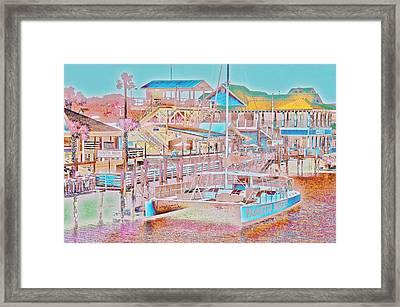 Colors Of Shem Creek Sc Framed Print
