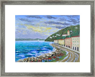 Colors Of The Riviera Framed Print by Larry Cirigliano