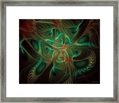 Framed Print featuring the digital art Colors Of The Wind by Kim Redd
