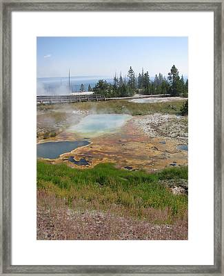 Framed Print featuring the photograph Colors Of Yellowstone by Shawn Hughes