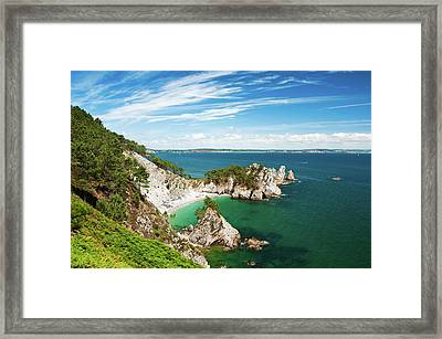 Colors Paradise Of St. Hernot Framed Print by Mikaël Milin