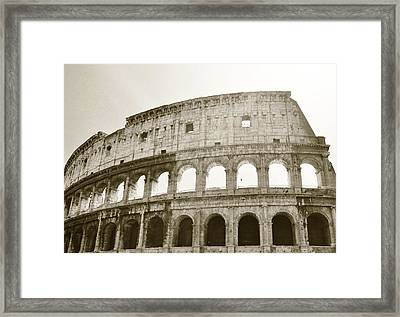 Coloso - Sepia Framed Print by Heather Marshall