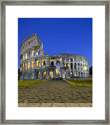 Colosseum At Blue Hour Framed Print