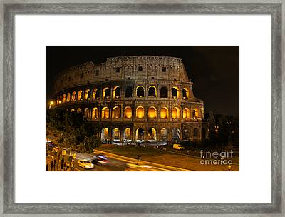 Colosseum By Night Framed Print