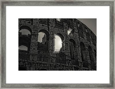 Colosseum Framed Print by Michael Avory