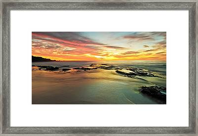 Colour On The Rock Framed Print