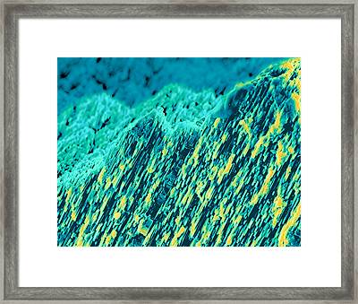 Coloured Sem Of Mother Of Pearl From Oyster Shell Framed Print