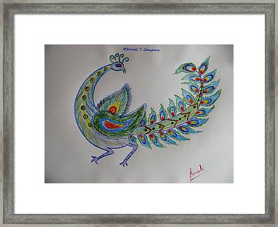 Colourful Bird Framed Print by Sonali Gangane