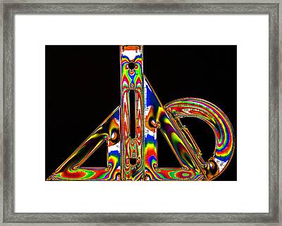 Framed Print featuring the photograph Colourful Geometry by Steve Purnell