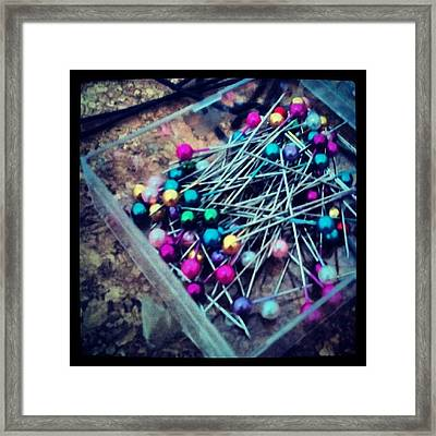 Colourful Pins Framed Print