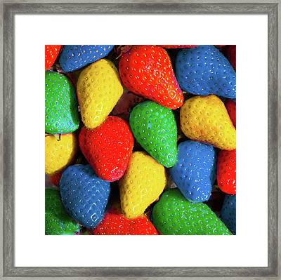 Colourful Strawberries Framed Print by Peter Chadwick LRPS