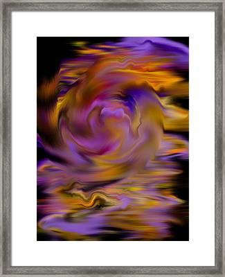 Colourful Swirl Framed Print
