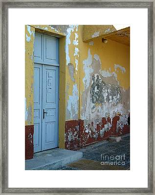 Colours Of Greece Framed Print by Therese Alcorn