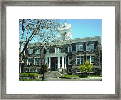 Columbia County Courthouse Saint Helens Framed Print