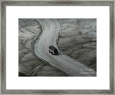 Columbia Icefield Glacier Adventure Framed Print