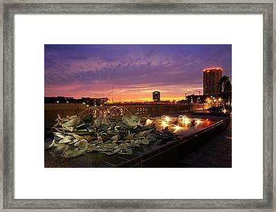 Columbus Scioto Mile II Framed Print by Dick Wood