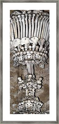 Column From Human Bones And Sku Framed Print by Michal Boubin