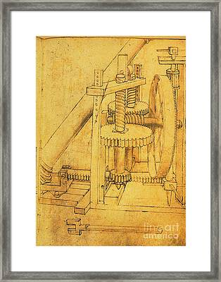 Column Lifter By Di Giorgio Framed Print by Science Source