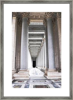 Columns In Basilica St. Paul Framed Print by Heather Marshall