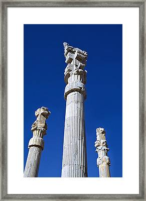 Columns Of  Xerxes Gateway Framed Print by Axiom Photographic