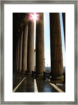 Framed Print featuring the photograph Columns by Patrick Witz