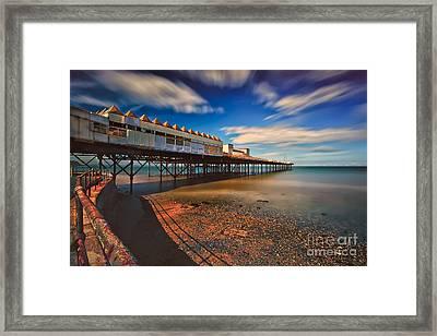 Colwyn Pier Framed Print by Adrian Evans