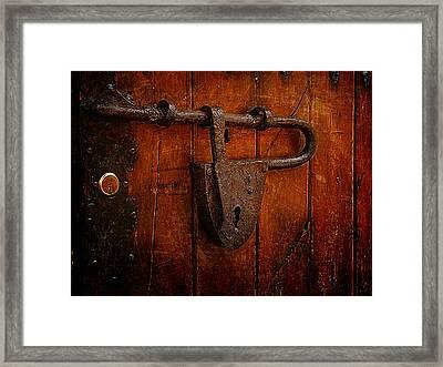 Combination Lock Framed Print by Blair Wainman