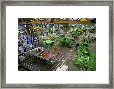 Combine Harvester Production Line Framed Print by Ria Novosti