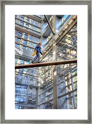Comcast Man Hdr Framed Print