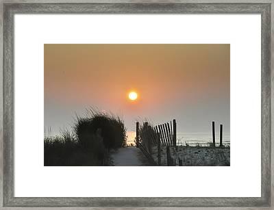 Come Greet The Sunrise Framed Print
