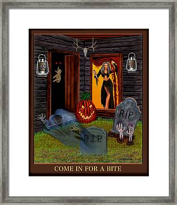 Come In For A Bite Framed Print by Glenn Holbrook