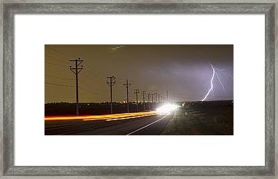 Come Into The Light Lightning Strike Panorama Framed Print by James BO  Insogna