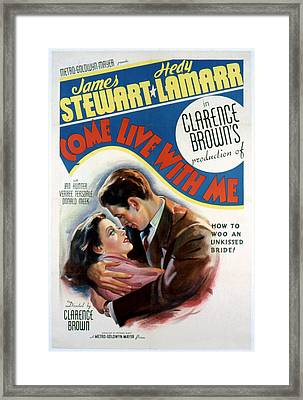 Come Live With Me, Hedy Lamarr, James Framed Print