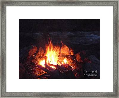 Come On Baby Light My Fire Framed Print by Janeen Wassink Searles