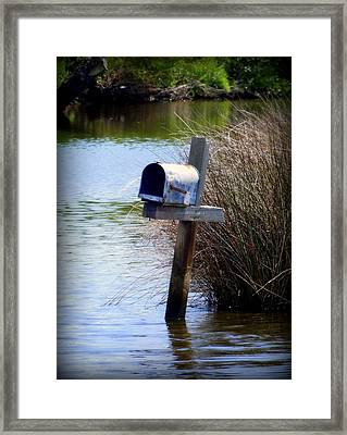 Come Rain Or Shine Or Boat Framed Print by Karen Wiles