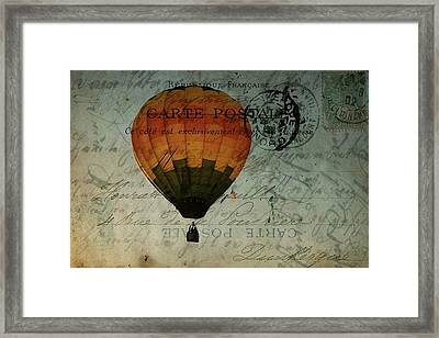 Come Travel The World With Me Framed Print by Christine Annas